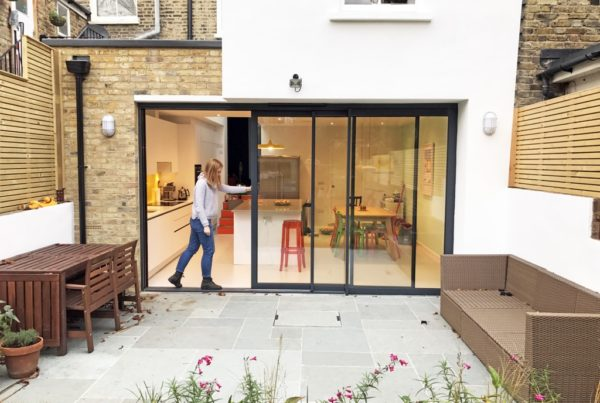 Sliding doors to the garden styled by Absolute Project Management