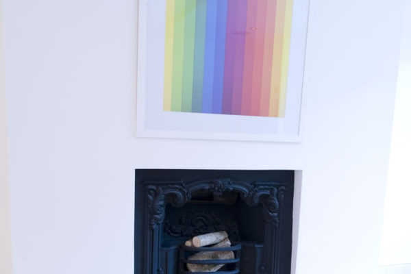 Black fireplace styled by Absolute Project Management