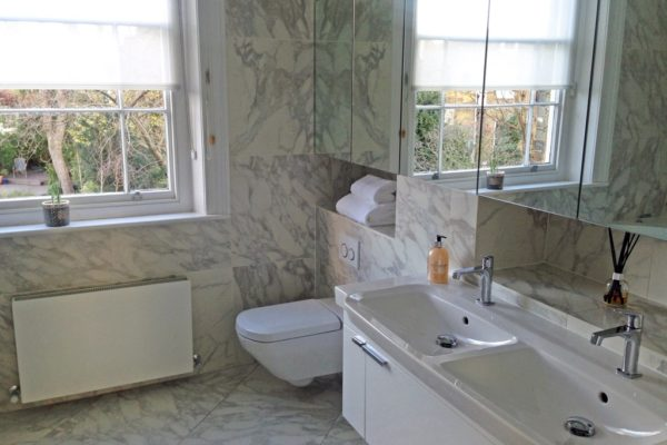 Marble walls and floors styled by Absolute Project Management