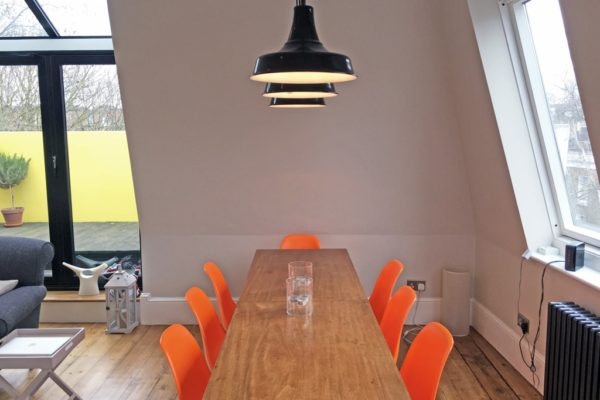 black retro lighting space styled by Absolute Project Management