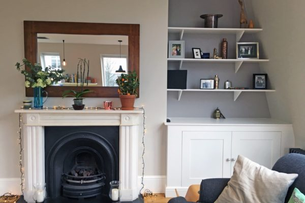 Fairylights over the fireplace styled by Absolute Project Management