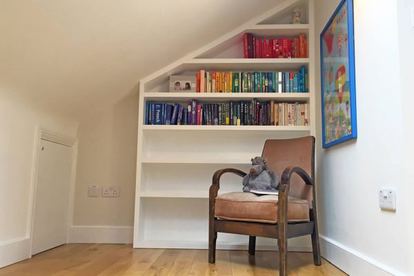Reading space for night time stories styled by Absolute Project Management