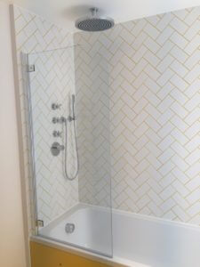 Babouche and white bathroom styled by Absolute Project management