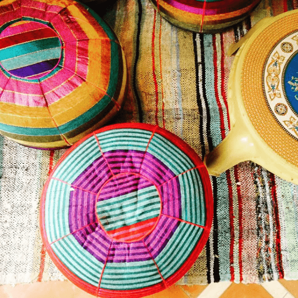 fabulous pouffes and rugs