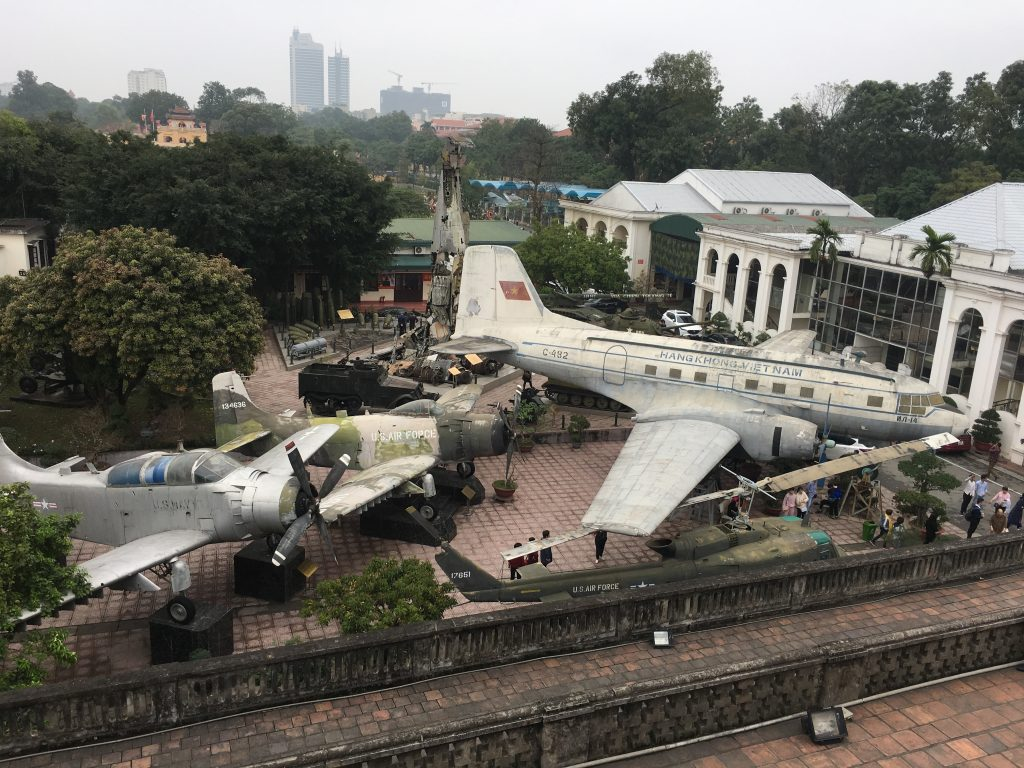 Military planes in Hanoi