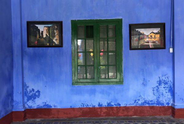 Vibrant Blue Wall