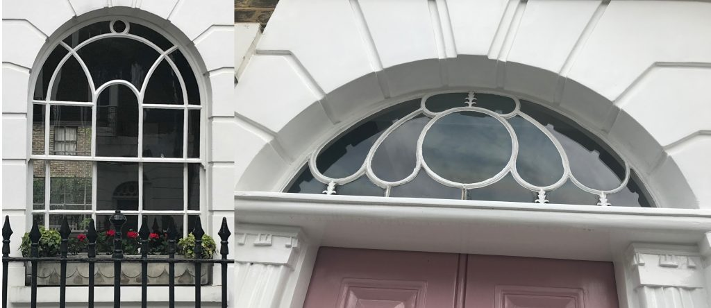 Sash window and fanlight