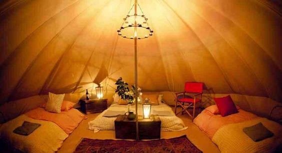 Bell tent chandelier