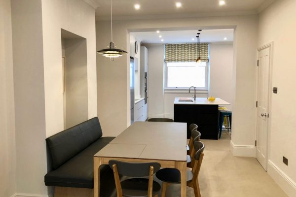 Big dining table ideal for big families styled by Absolute Project Management