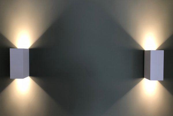 Rectangle bright wall lights styled by Absolute Project Management