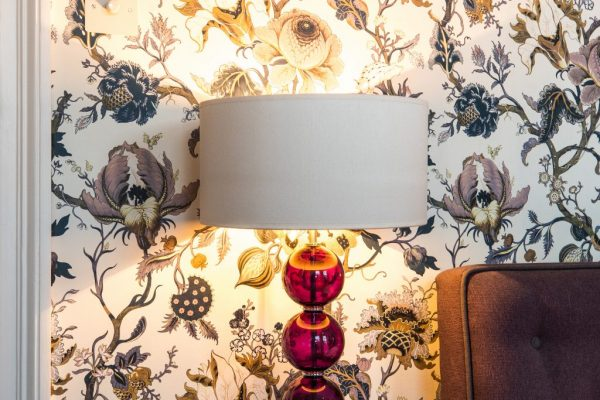 Coloured floral wall paper styled by Absolute Project Management