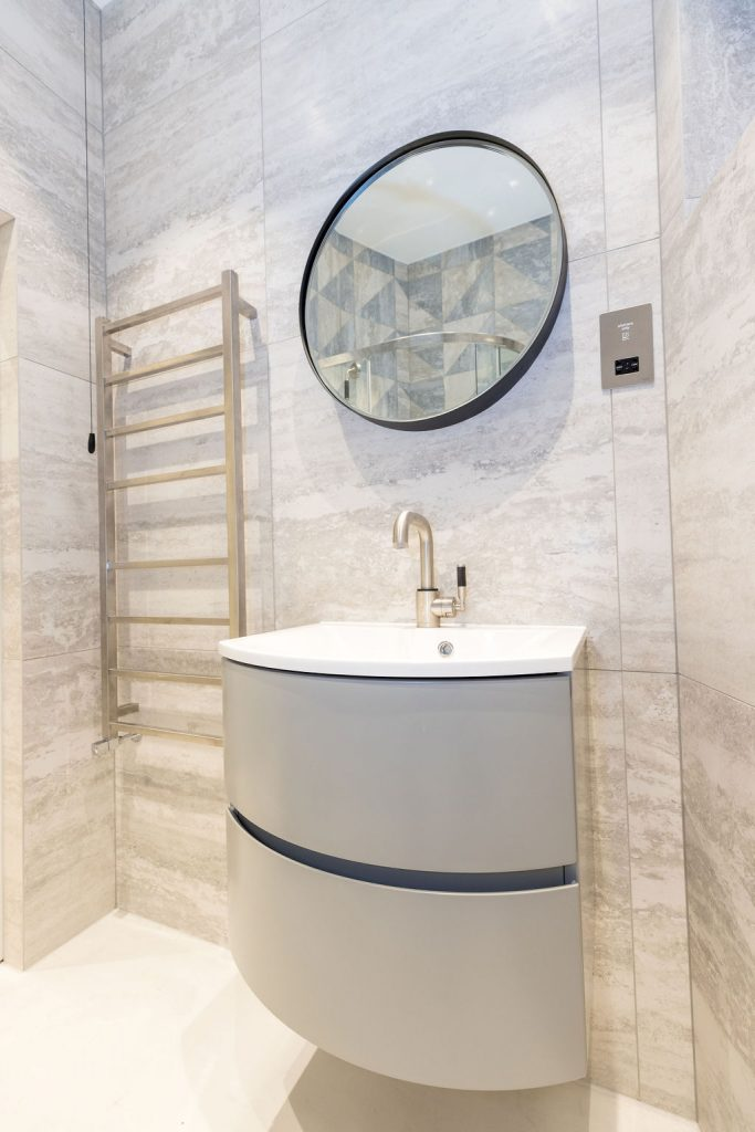 Modern bathroom styled by Absolute Project Management