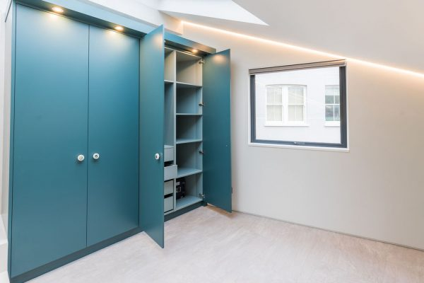 Large bright wardrobe styled by Absolute Project Management