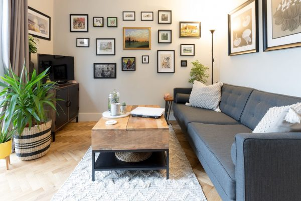 Artistic living room styled by Absolute Project Management