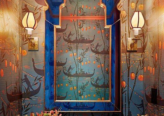 Opulent cloakroom