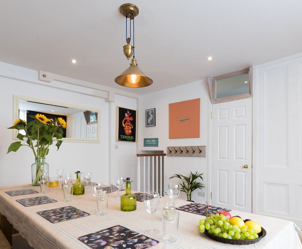 Large light dining room in Kemptown styled by Absolute Project Management