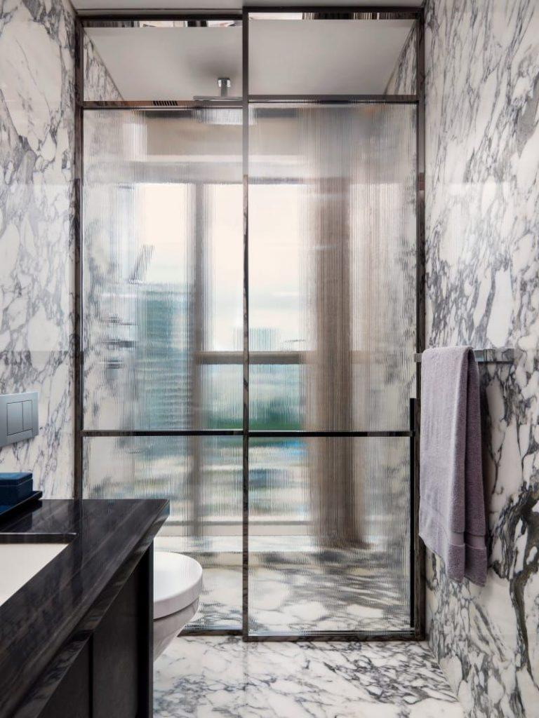 Fluted Glass shower enclosure