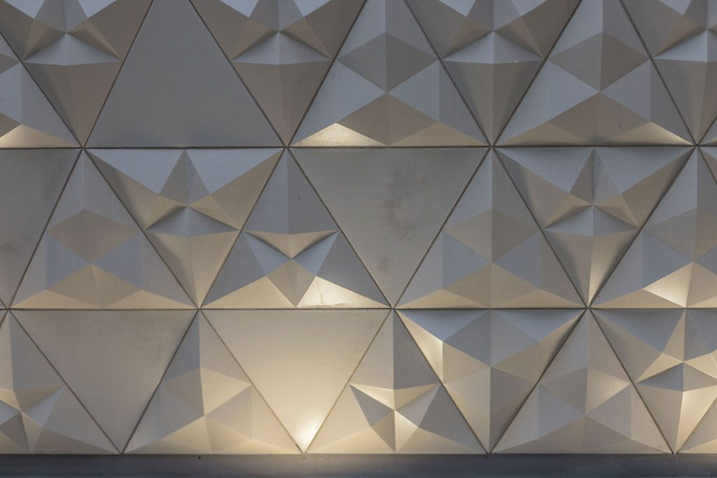 Concrete tiles on a garden wall - designed by Absolute Project Management