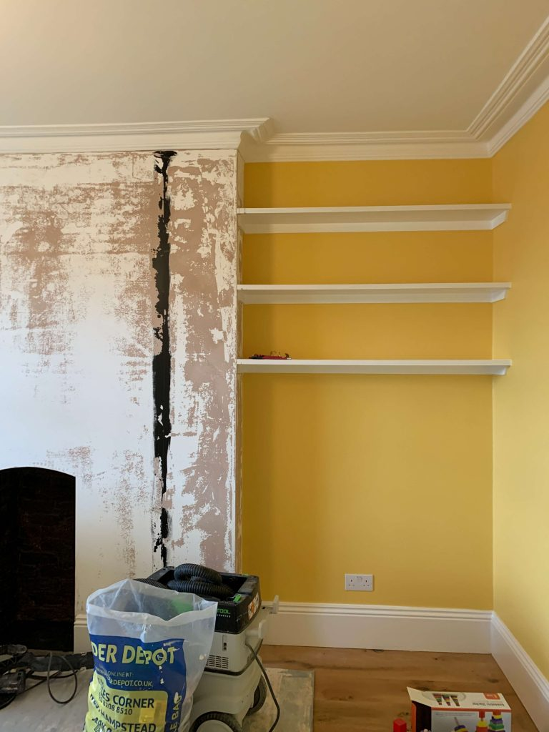 Room in process of being redecorated