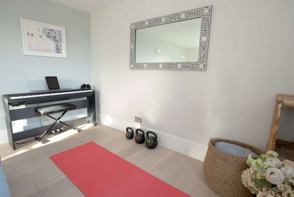 Yoga and music room in a North London flat designed and renovated by Absolute Project Management