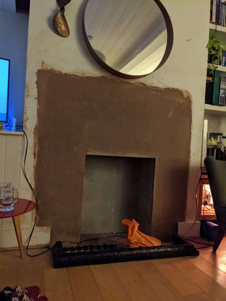 Opening for Wood Burning stove.