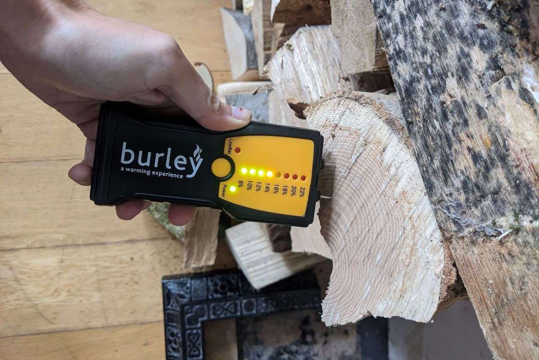Wood burner stove moisture reader. Absolute Project Management.