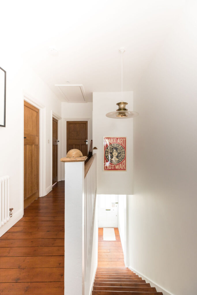 light and bright retro hallway. Renovation by Absolute Project Management.